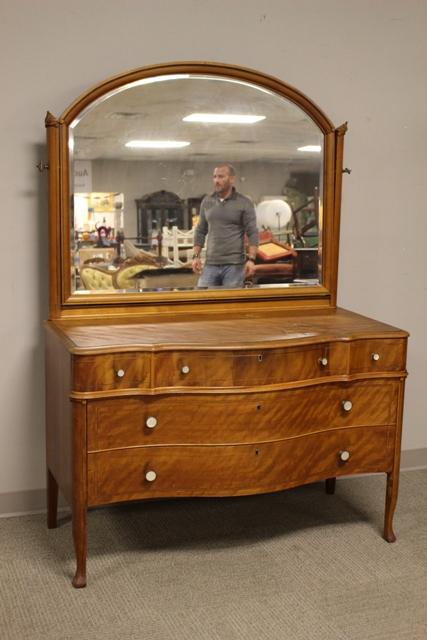 ca. 1880 Bleached Mahogany Dresser