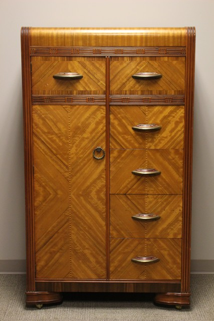 ca. 1930's Art Deco Waterfall Style Wardrobe