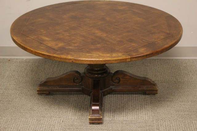 Hickory Mfg. Co. Oak Hydraulic Nautical Yacht Table