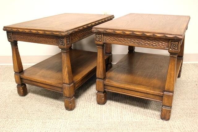 Pair of Romweber Viking Oak End Tables
