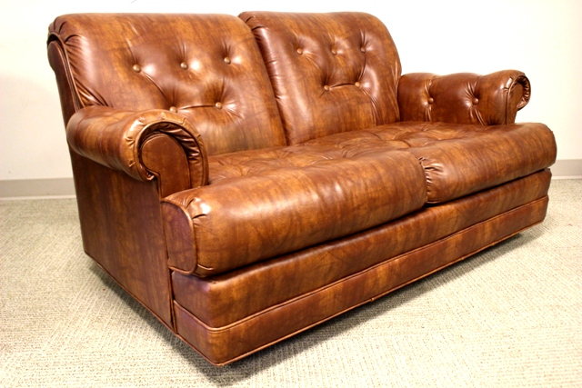 Three Piece Stratford Co Leather Parlor Suite