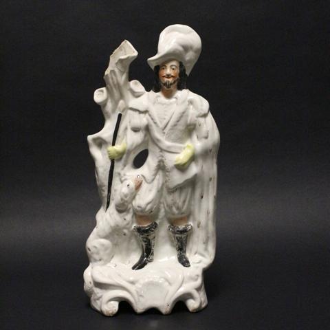 19th Century Staffordshire Gentleman Figural Spill Vase