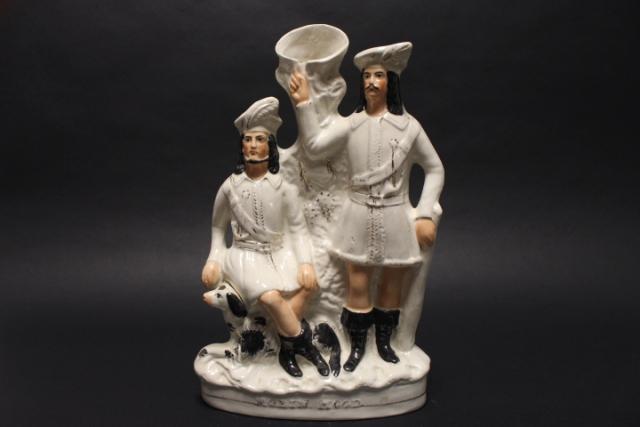 19th Century Staffordshire Spill Vase Robin Hood