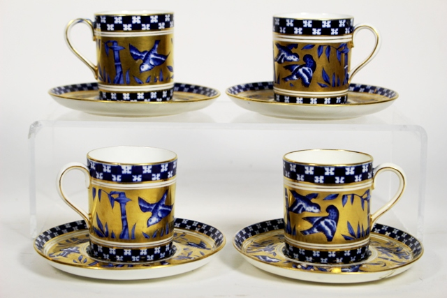 ca 1900 Coalport China Demitasse Cups and Saucers