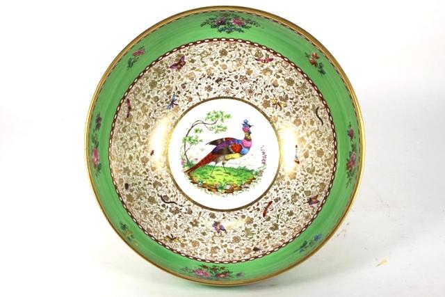 England Copeland Spode Transferware Pheasant Bowl