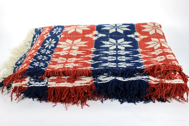 19th Century Country Americana Primitive Coverlet
