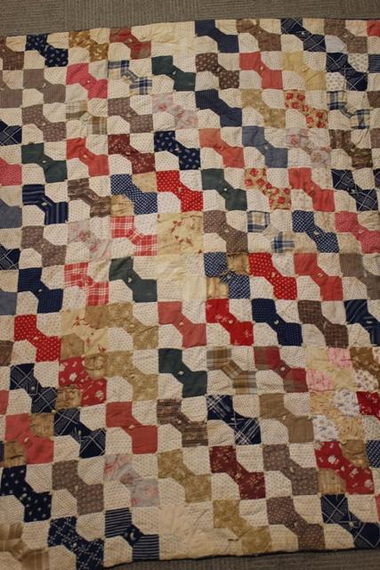Antique Bowtie Patchwork Americana Quilt