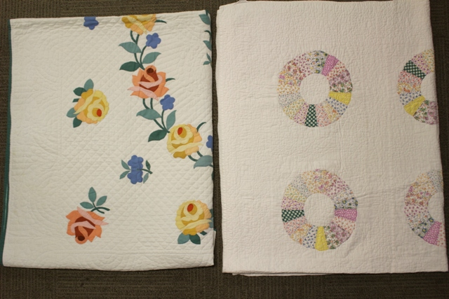 Two Hand Stitched Country Primitive Quilts
