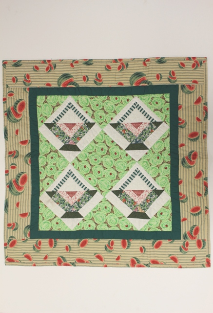 Americana Patchwork Crib Quilt Watermelon Pattern