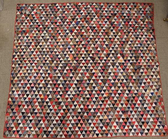 Primitive Triangle Pattern Patchwork Quilt