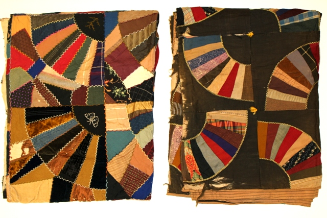 Two Early 20th Century Primitive Patchwork Quilts