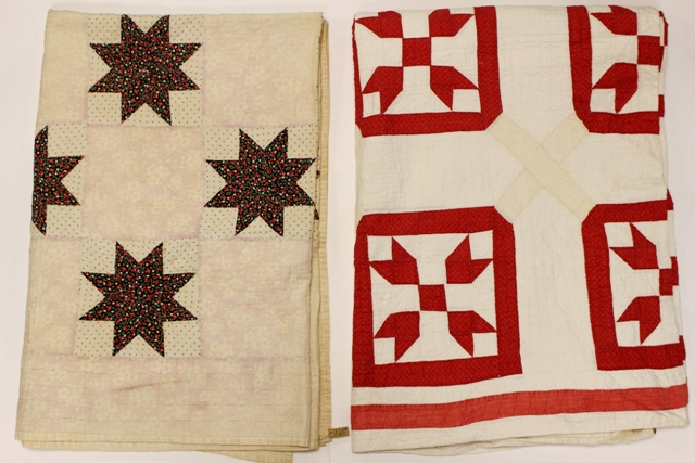 Two Early Hand Stitched Quilts