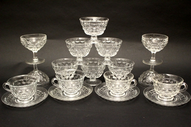Fostoria Glass Co. American Pattern Glasses and Cups