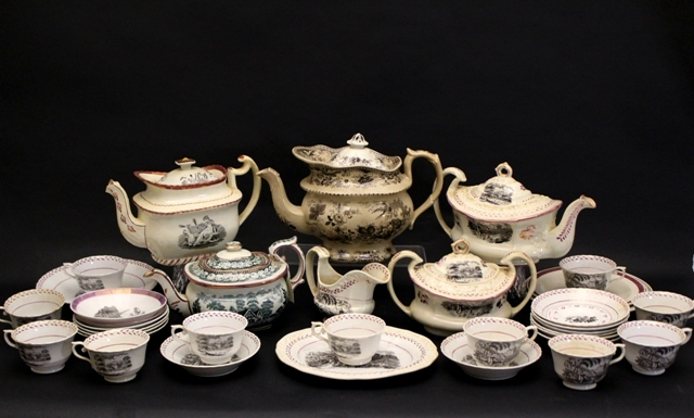 19th Century English Lusterware and Ironstone Pieces