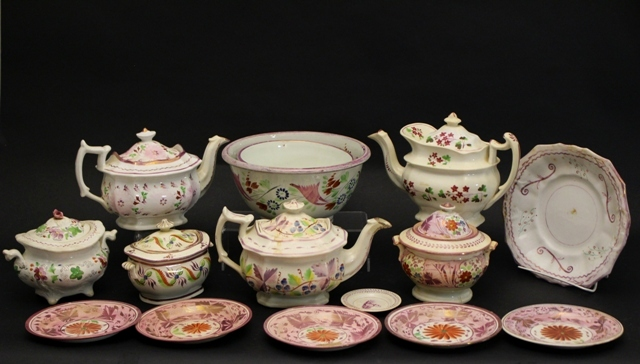 Collection of 19th Century Lustreware and Pearlware
