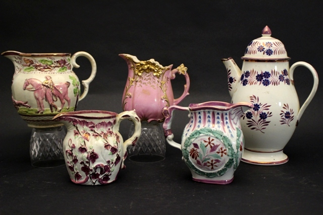 Early 19th Century English Lustreware Pitchers