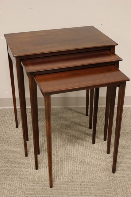 19th Century Mahogany Nesting Tables
