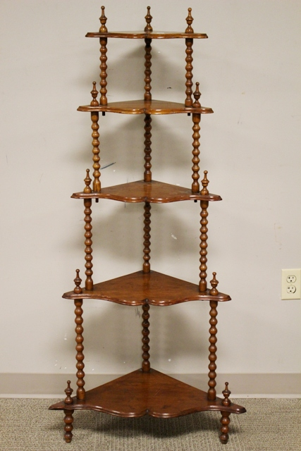 Four Tier Victorian Carved Walnut Etegere
