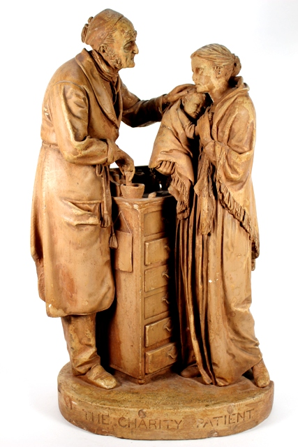 John Rogers 'The Charity Patient' Plaster Sculpture