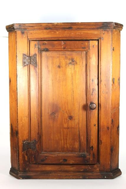Late 19th Century Pine Hanging Corner Cabinet