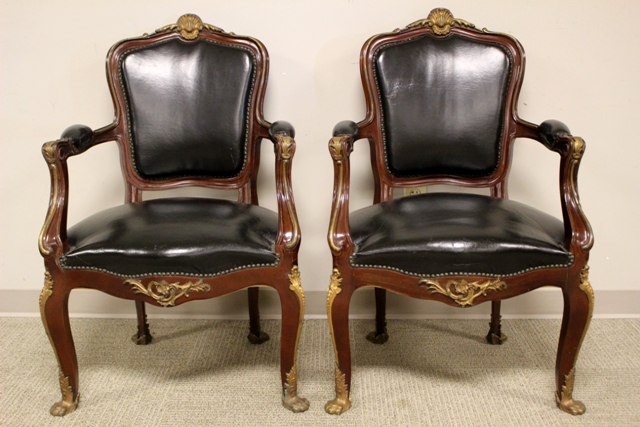 Pair of Early 20th Century Banker's Chairs