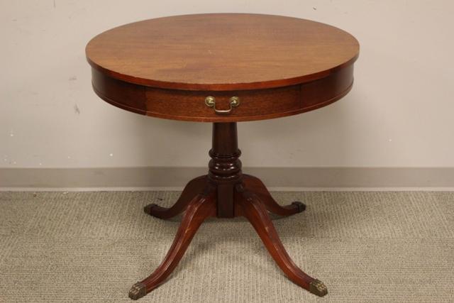 1940's Mahogany Drum Table