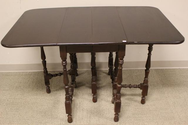 1920's Black Walnut Gateleg Table