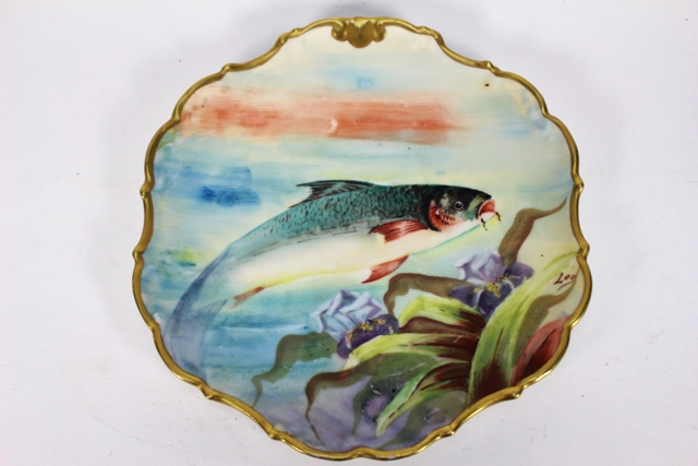 LDBC Flambeau Limoges Plate Hand Painted and Signed
