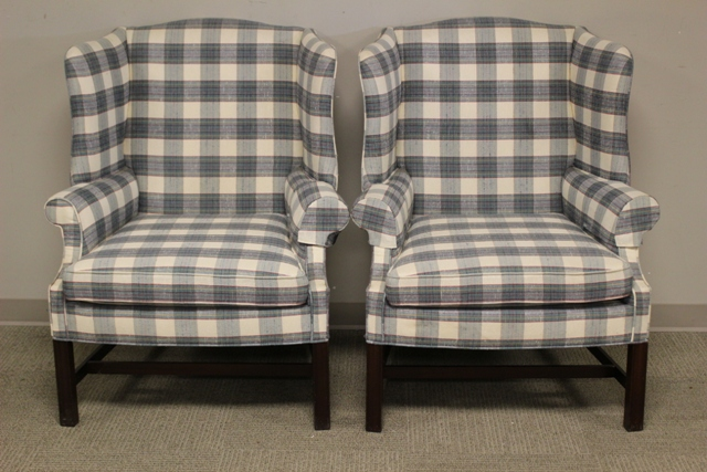 Pair of Chinese Chippendale Fireside Chairs