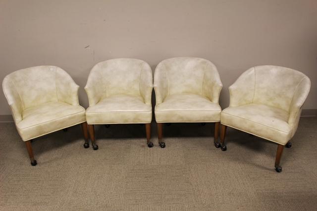 Set of Four 1950's Barrel Back Chairs