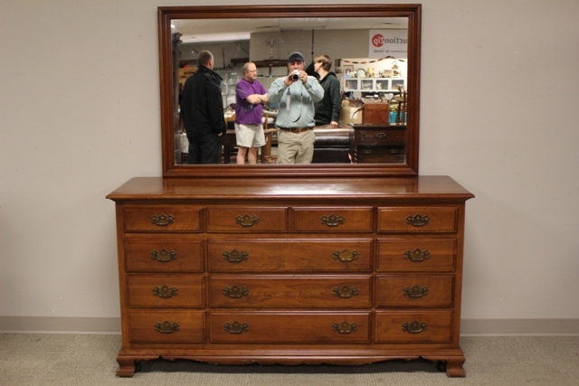 Monitor Furniture Co. Solid Cherry Dresser with Mirror