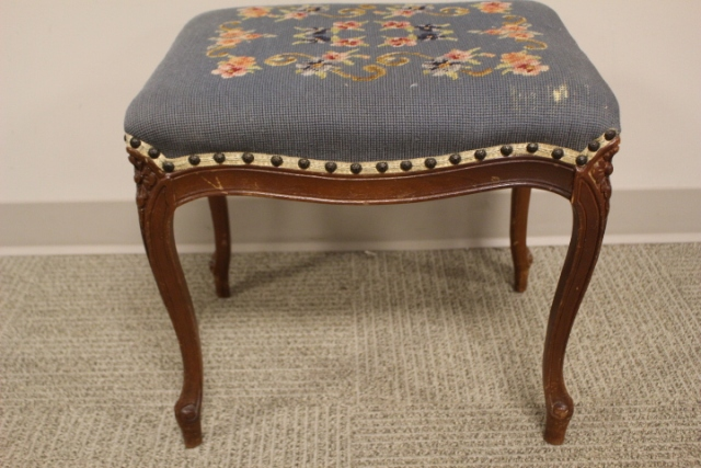 Country French Needlepoint Footstool