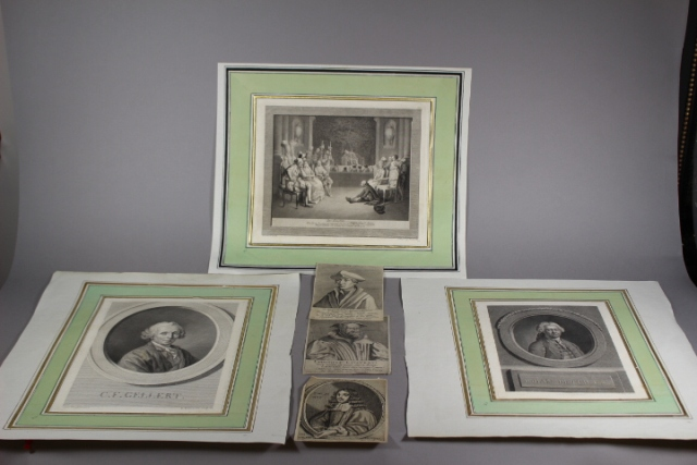 Group of Six Signed Dutch and German Etchings