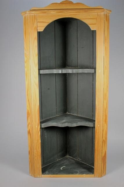 Vintage Pine Hanging Corner Cabinet