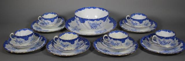 19th Century Copeland China Tea Service Pieces