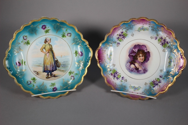 Two Victorian Transferware Portrait Plates