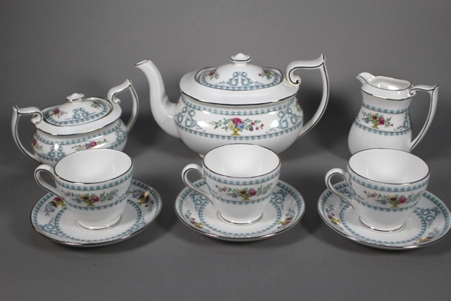 Spode China Versailles Pattern Tea Service for 12