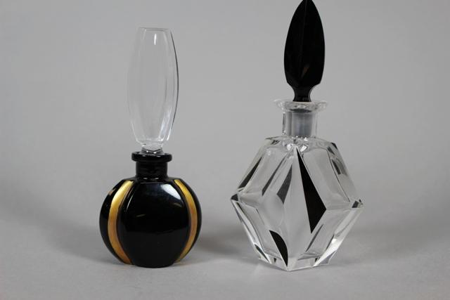 Czech & German Art Glass Perfume Bottles