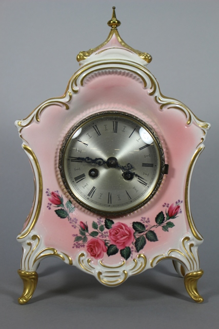 Dresden Porcelain Mantle Clock
