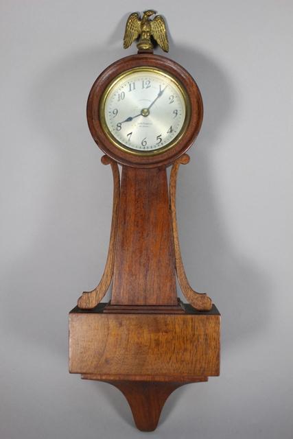 Ansonia Miniature Mahogany Banjo Wall Clock