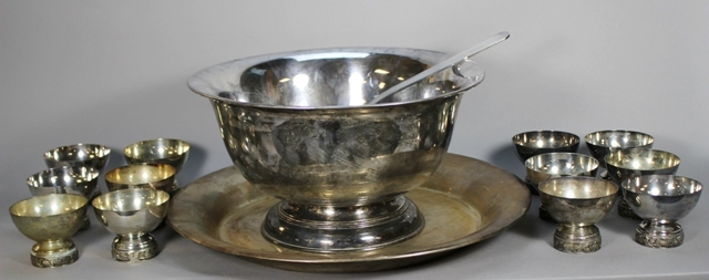 Vintage Silverplate Punch Bowl Set