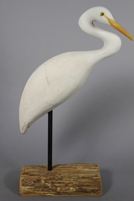 Great American Egret Decoy by Richard Morgan