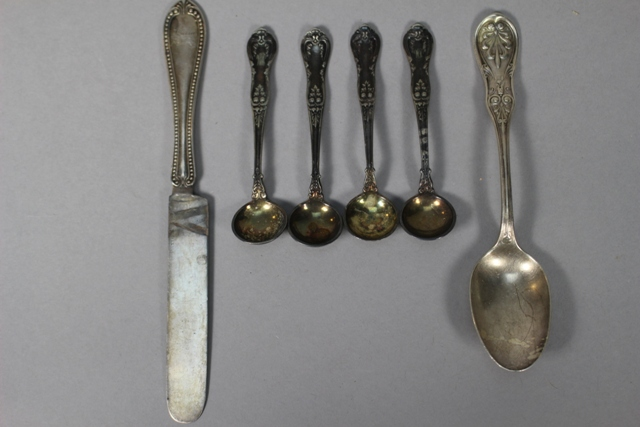 Tiffany & Co. Sterling Pieces and Four Silverplate Spoons