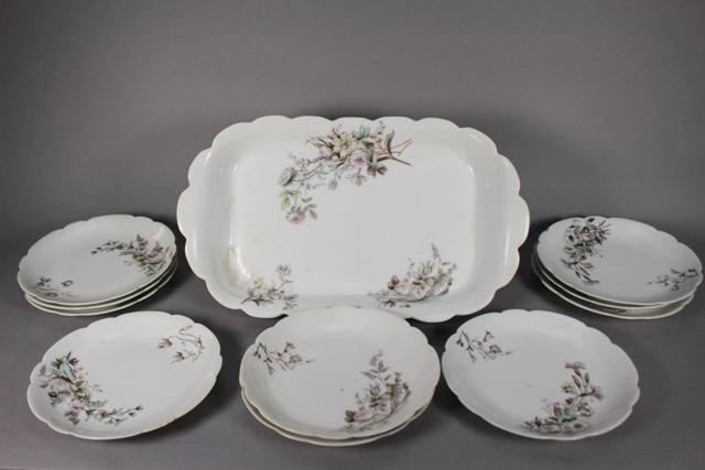 Haviland Limoges Art Nouveau Serving Platter & Plates