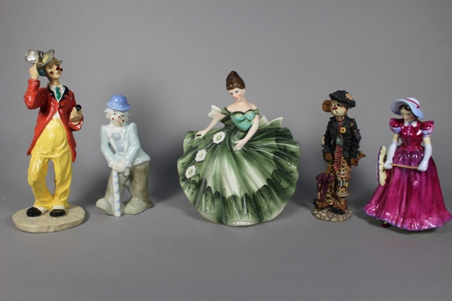 Assorted Porcelain Figurines Collection
