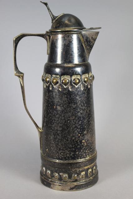 ca. 1900 German Silverplate Claret Jug Marked