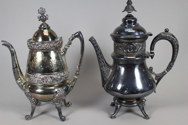 19th C Wilcox and Rogers & Bros. Silverplate Tea Kettles