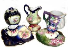 Nippon, Bavaria And Austrian Painted Porcelains