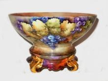 French Limoges Punch Bowl Tressemann & Vogt Ê