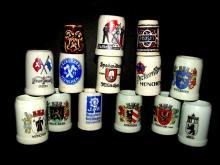 Miniature German Beer Mugs/Steins 14 Total